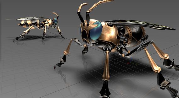 Modelo 3D criado no Alias Design e visualizado no próprio software