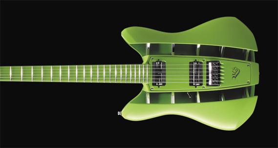 Guitarra da RKS Guitars projetada no Inventor 2010