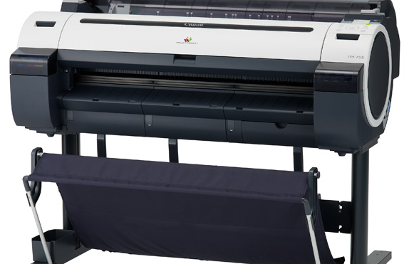 Impressora Canon IPF755 imprime em cinco cores