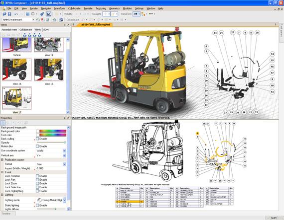 Interface principal do 3DVIA Composer