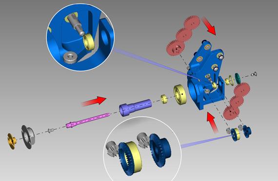 Exemplo de instrução criado no 3DVIA Composer