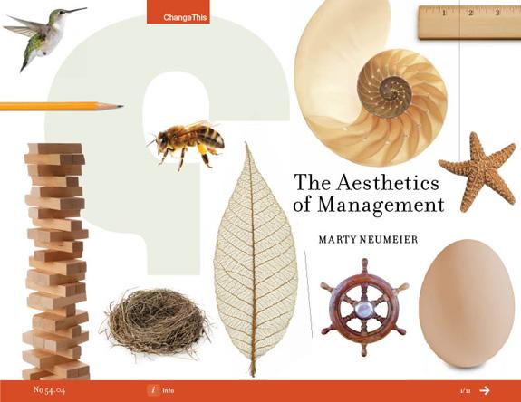 O pensamento de Neumeier sobre a gestão da estética