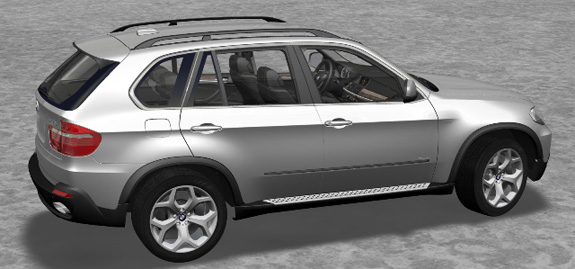 Automóvel BMW desenhado no Catia