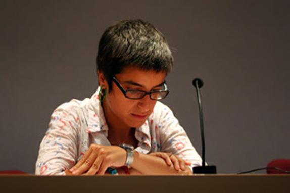 Laura Meseguer, que apresentou cenário da tipografia na Espanha