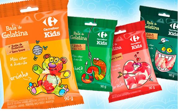 Balas Carrefour, embalagens criadas pela Pande Design