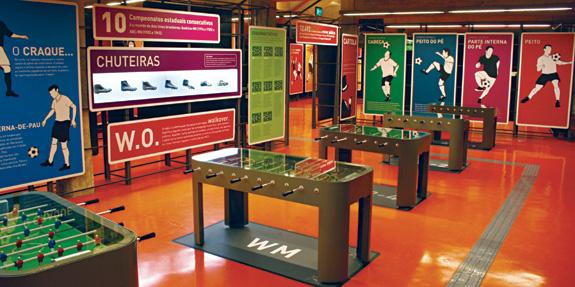 Museu do Futebol, de São Paulo, desenhado por Jair de Souza