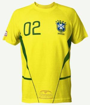 Camisa da seleção de 2002, produzida em série pela Nike