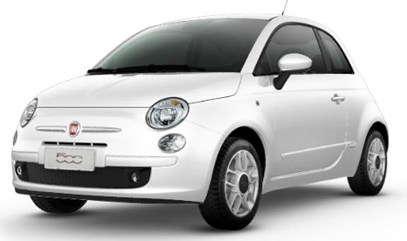Fiat 500, que recebeu tropicalização na suspensão e no motor