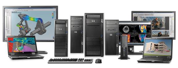 Família de Workstations HP Z