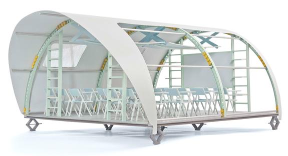 Sala de Aula Modular, de Marcelo Halfeld, da UERJ-RJ