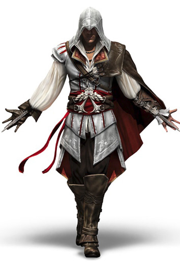Personagem do game Assassin's Creed II, da Ubisoft, criado no 3ds Max