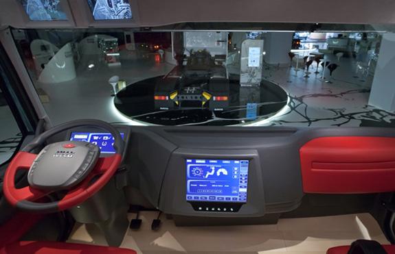 Interior do Glider pode ser reconfigurado de acordo com quem o utiliza