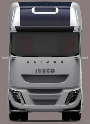 Glider traz em seu teto paineis fotovoltaicos para gerar energia