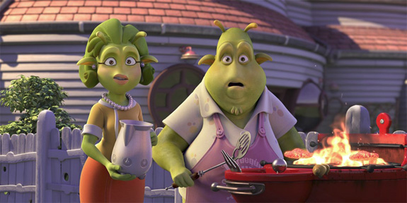 Personagens do filme Planet 51 criados no 3ds Max pelo Ilion Animation Studios.