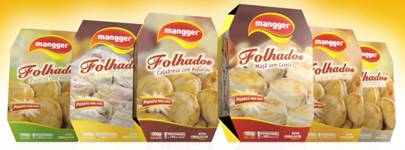Embalagens folhados Mangger, criada pela FazDesign
