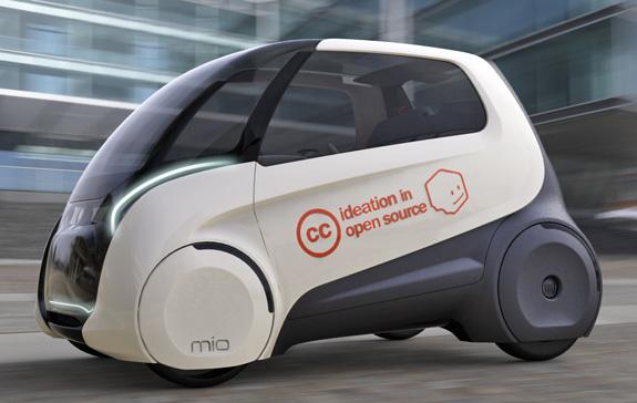 O dinamismo da linha de cintura colabora para alongar o perfil do Fiat Mio