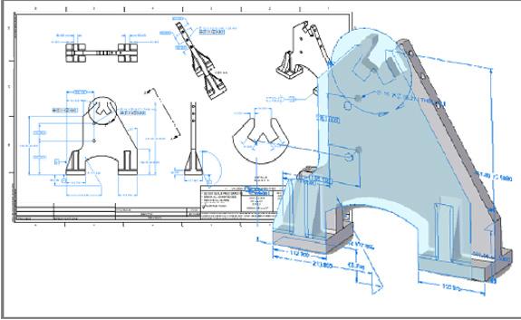 ST3 permite trabalhar com desenhos 2D e modelos 3D simultaneamente