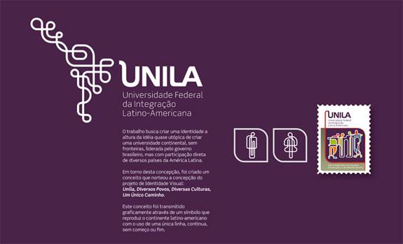 Identidade da Unila criada por Mário Verdi, profissional que venceu em identidade visual