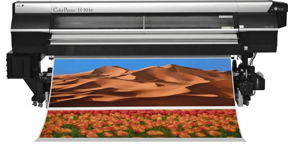 A Seiko Colorpainter 104s otimiza a colocação dos pontos e seu alinhamento