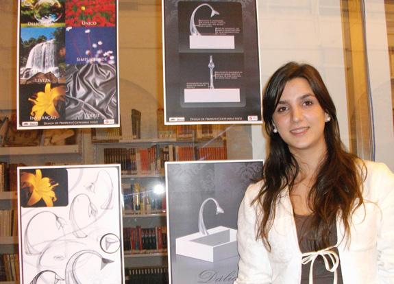 Inspirada nas flores Giovanna Tozzi criou uma torneira na forma de uma dália estilizada