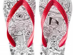 Por que estampas tão bonitas e delicadas onde seus pés vão pisar? Arte Funcional?