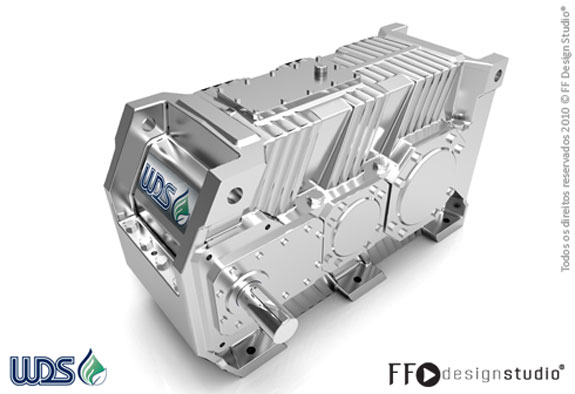 Vista Frontal do Redutor de Velocidade WBX concebido pela FF Design Studio