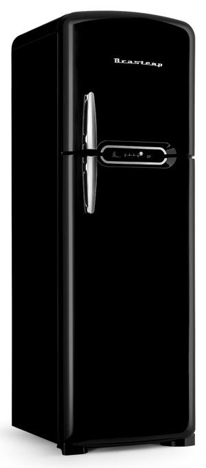 O refrigerador Retrô traz o simpático esquimó da Brastemp no grafismo do painel