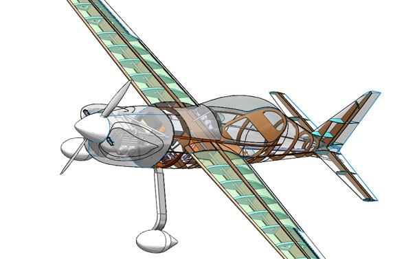 Modelo 3D do CEA 308 concebido no CAD SolidWorks, facilita visualização e análise do projeto