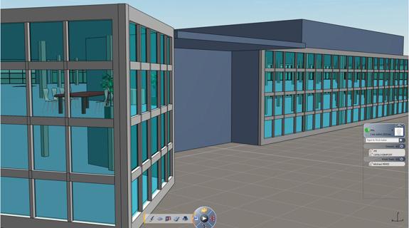 Maquete criada no Live Building, novo software para arquitetura e construção