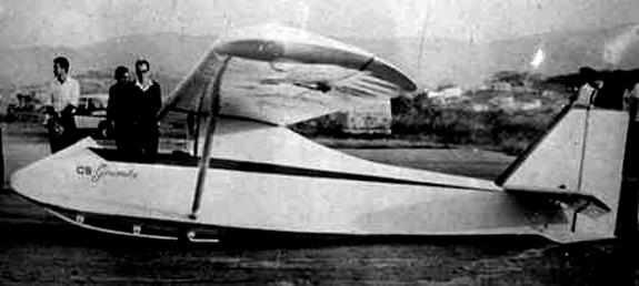 CEA101-CB-1 chamado Gaivota construído pelo prof. Cláudio Barros, em 1964