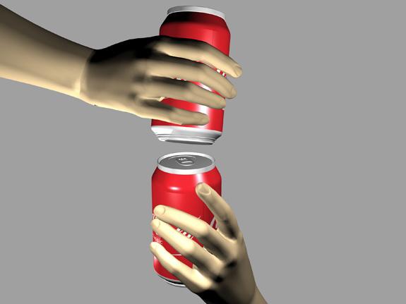 Sistema de encaixe, criado por Bastos, permite carregar várias latas de uma só vez
