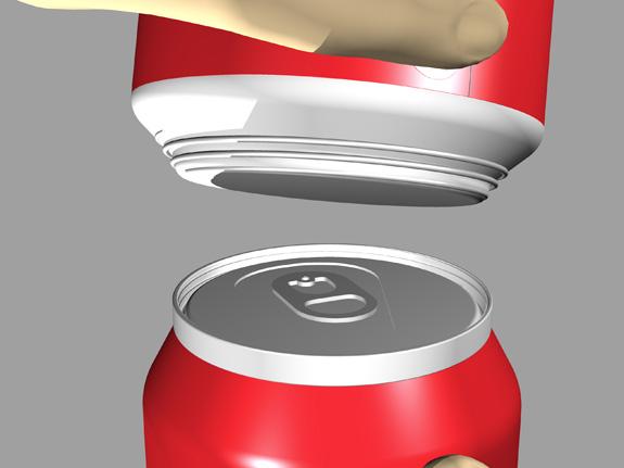 Ideia de enroscar latas traz facilidade e praticidade ao consumidor