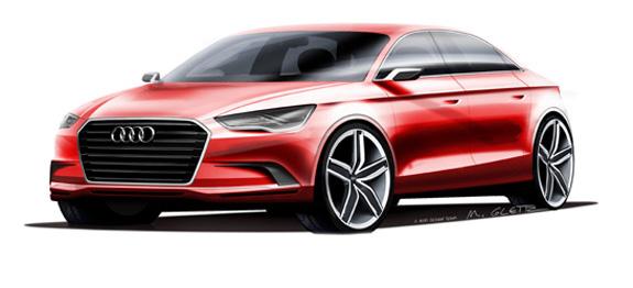 Audi A3 Concept, um notchback para quatro ocupantes, simboliza inovação no design