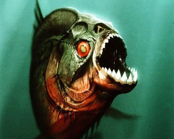 O filme Piranha 3D, um remake do clássico de 1978, ganhou várias criaturas de Page