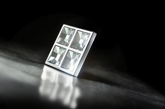 Puxador com cristais Swarovski, para varios tipos de aplicação, imita joias