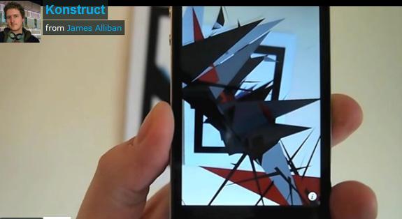 James Alliban e Juliet Lall publicaram no Creators esculturas Konstruct criadas no smartphone