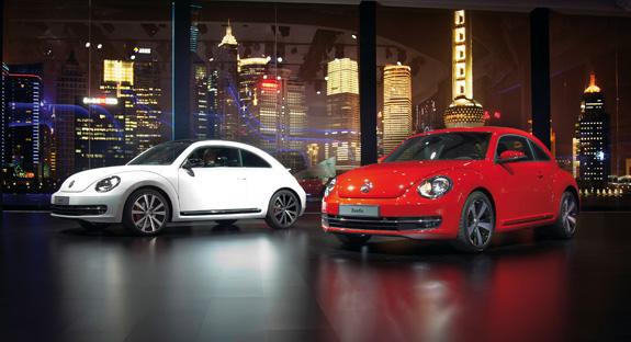 Beetle foi apresentado em festa exclusiva no Salão de Automóvel em Xangai, China
