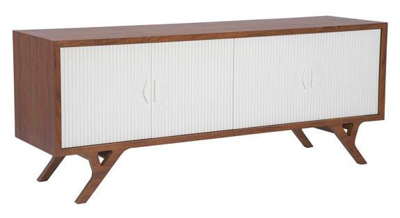 Buffet do designer Latoog também chama a atenção na exposição de Milão