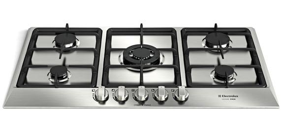 Com mesa em aço inox cooktop Home Pro conta com queimadores de tamanhos e potências diferentes
