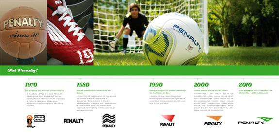 Conheça a evolução da marca Penalty desde 1970 até a versão atual criada pela Oz Design