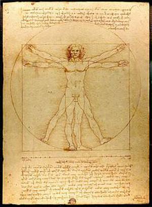 Leonardo da Vinci mostra com seu homem vitruviano a importância de se expressar ideias pelo desenho