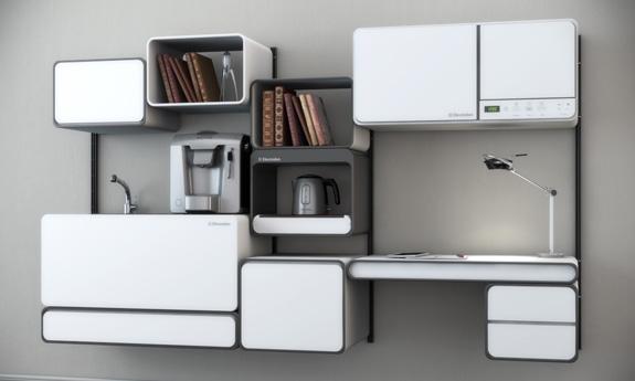 Fulcrum é um sistema modular de móvel e aparelho doméstico de coz