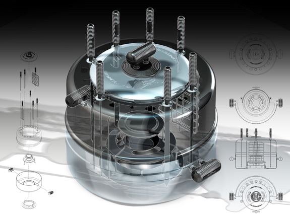 Churrasqueira Grillex, desenvolvida no Solid Edge, é usada no material de marketing do software