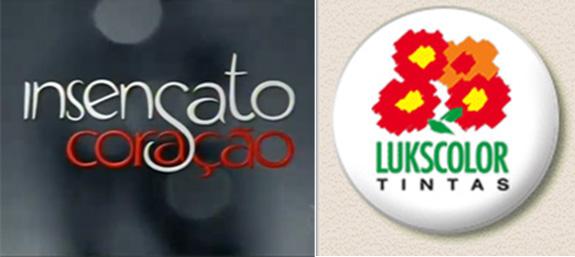 Marca atual da Lukscolor (acima) terá nova versão apresentada em Insensato Coração