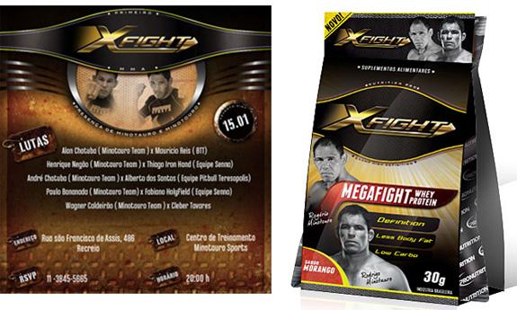 Embalagem XFight ganhou extensões como versão em sachê e a marca foi aplicada convite