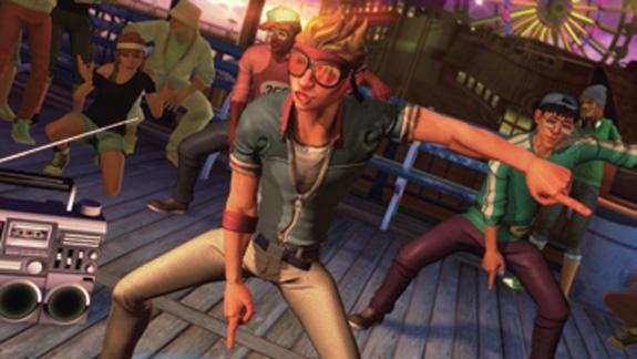 Imagem do game Dance Central, da Harmonix Music Systems, criado no 3ds Max