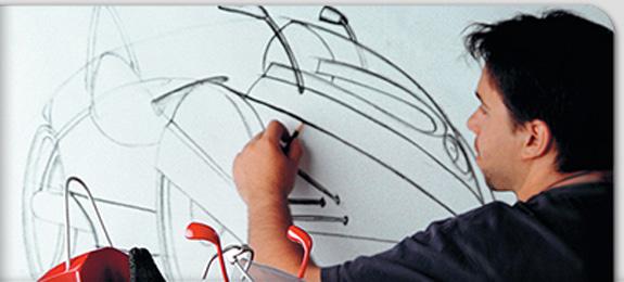 Imagem da página do curso de Desenho Industrial no site na Univali mostra o espírito do ensino do design hoje