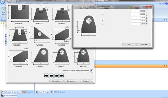 Lantek Expert auxilia na programação de corte de peças paramétricas