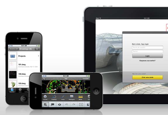 AutoCAD WS permite acessar projetos via Web usando o iPad ou o iPhone