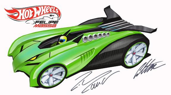Hot Wheels Eagle, da Mattel, desenhado pelo piloto de Fórmula 1, Felipe Massa